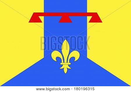 Flag of Bouches-du-Rhone is a department in the south of France. Vector illustration