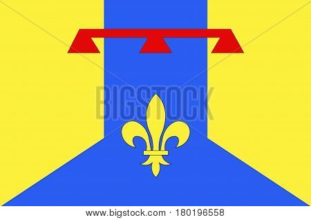 Flag of Bouches-du-Rhone is a department in the south of France.