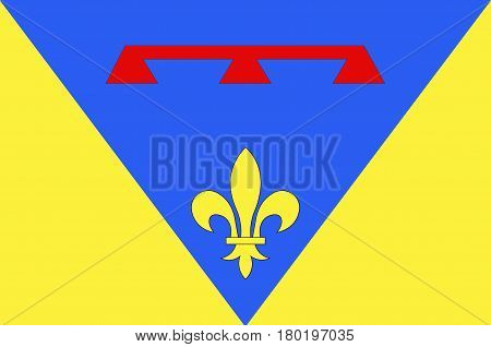 Flag of Var is a department in the Provence-Alpes-Cote d'Azur region in Provence in southeastern France.