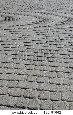 Background Photo Close-up Of A Large Platform Of Paving Stone In Perspective