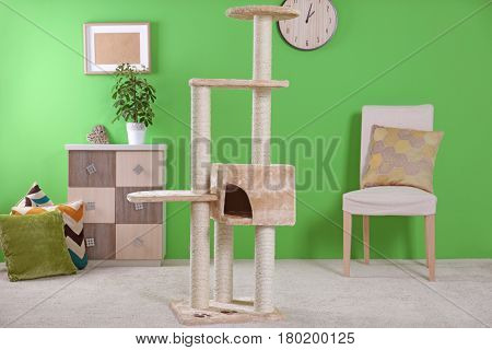 Cat tree in modern room