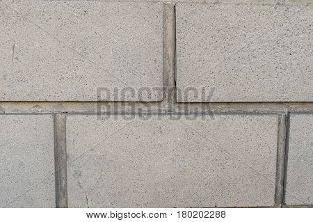 Cinder Block Wall Background And Texture. Close-up
