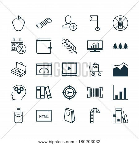 Set Of 25 Universal Editable Icons. Can Be Used For Web, Mobile And App Design. Includes Elements Such As Stair Lift, Loading Speed, Black Friday And More.