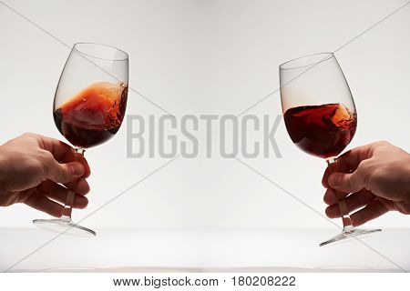 Red Wine Two Glasses
