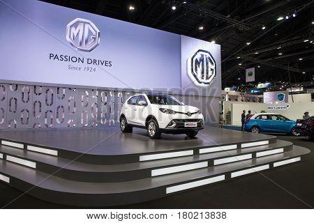 Bangkok Thailand. 28th Mar 2017. MG GS 1.5T on display at The 38th Bangkok International Thailand Motor Show 2017 on March 28 2017 Nonthaburi Thailand