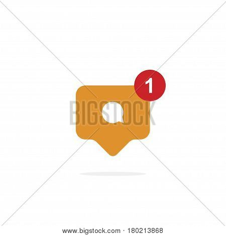 Notification of a comment. Icon of social networks. Flat vector icon EPS 10