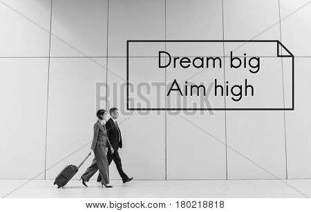 Dream Big Aim High Quote Message Aspiration