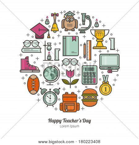 Unique illustration of a Happy Teacher s day