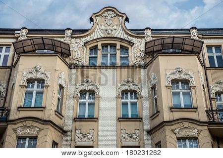 Old apartment house in Katowice city Poland