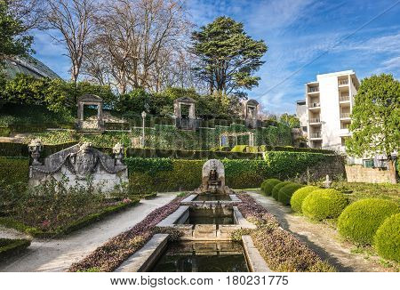 Crystal Palace Gardens public park in Porto Portugal