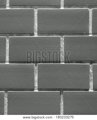 Monochrome picture of Closed up Terracotta Bricks Wall, for Background