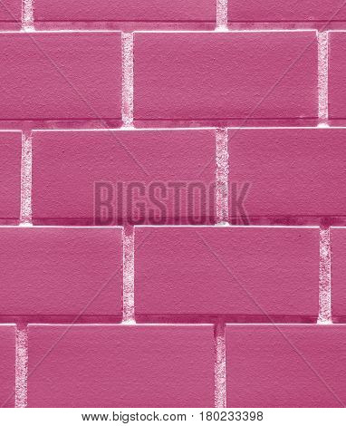 Vertical Image of Bricks Wall in Bubblegum Pink Color, Closed up for Pattern, Background