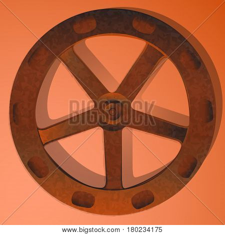 rusty valve from the pipeline. vector illustration
