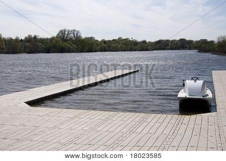 Small Boat Docked