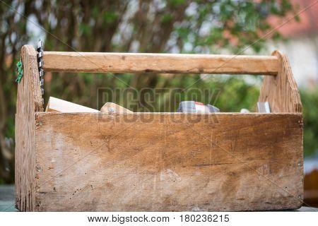 Toolbox by a carpenter equipment for a carpenter