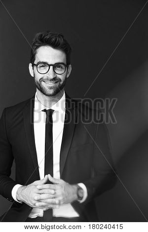 Sexy and Sharply dressed dude in studio portrait