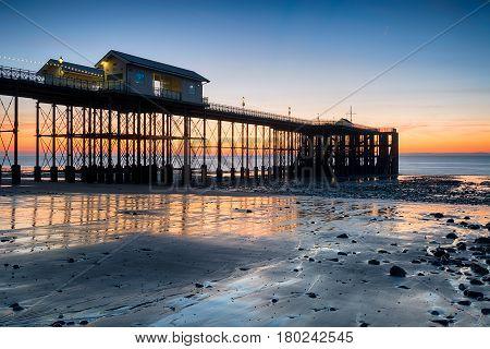 Sunrise At Penarth Pier In Wales