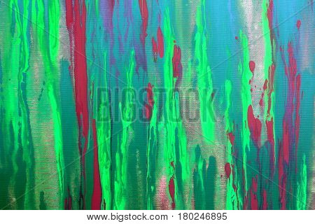 Abstract Green and Red Painted Background