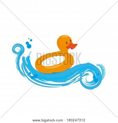 baby ducky toy isolated icon vector illustration design
