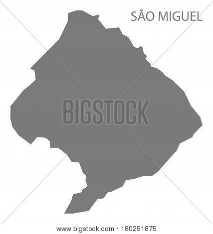 Sao Miguel Cape Verde Municipality Map Grey Illustration Silhouette