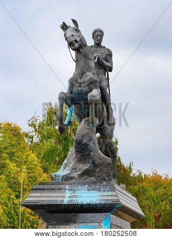 Statue of Philip of Macedonia in Bitola Macedonia