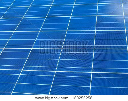 close up of blue solar panel square texture.
