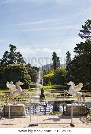 The Lake At Powerscourt Mansion, Ireland