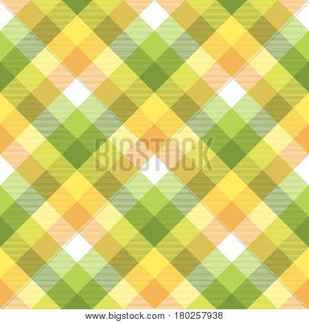 Color plaid tablecloths seamless fabric texture. Vector illustration.