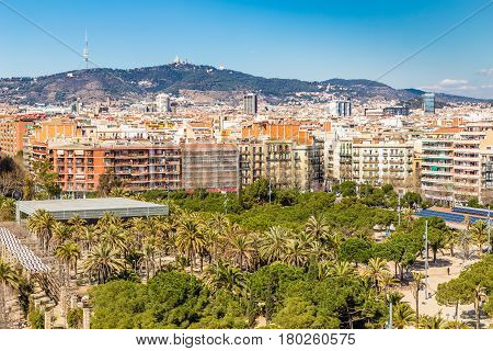 View From Arenas De Barcelona - Plaza de Toros De Las Arenas Barcelona Catalonia Spain Europe