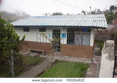 NIZAG, ECUADOR-JUNE 6, 2006: Only healthcare post in town. The Citizen's Revolution has brought basic health services to the mountains