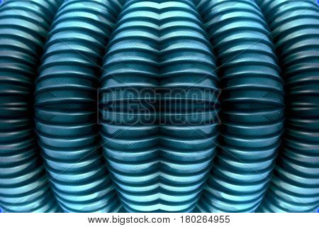 Texture of the ribbed surface of the metal tube