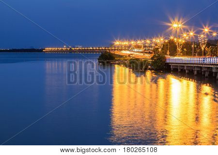 Coastal Bridge At Twilight