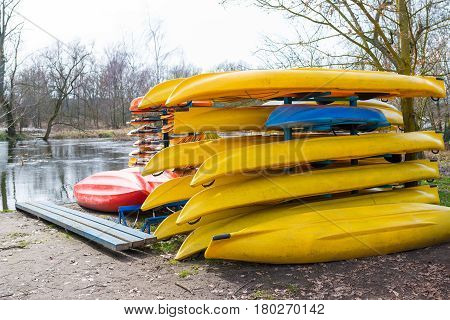 Rental Kayaks And Canoes At Welna River Wielkopolska