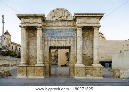 The gate to Cordoba is located on the site of previous Roman and Moorish gates which united the city to the Roman Bridge.