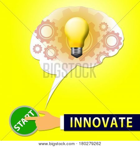 Innovate Light Meaning Innovating And Ideas 3D Illustration