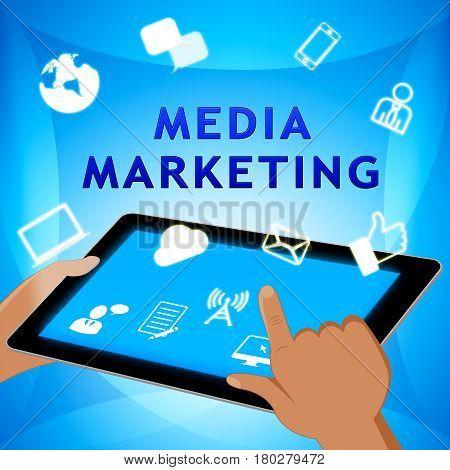 Media Marketing Represents News Tv 3D Illustration