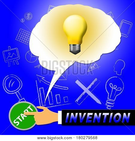Invention Light Meaning Invents And Innovating 3d Illustration poster