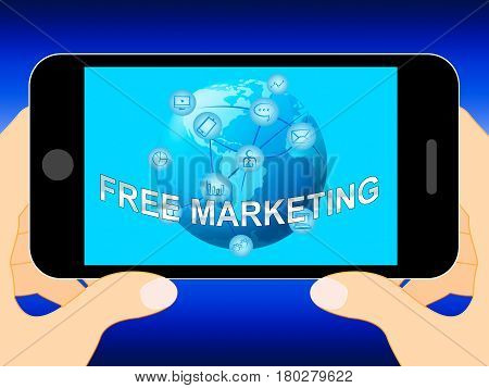 Free Marketing Represents Biz Emarketing 3D Illustration