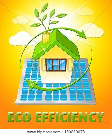 Eco Efficiency Displays Earth Nature 3D Illustration