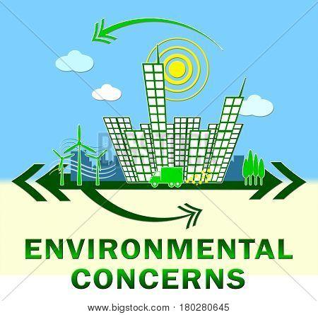 Environment Concerns Design Shows Nature 3D Illustration