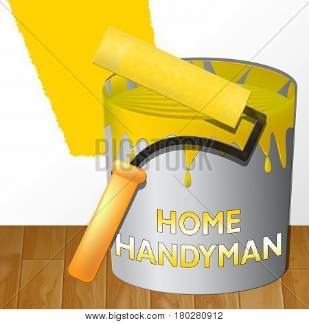 Home Handyman Meaning House Repairman 3D Illustration