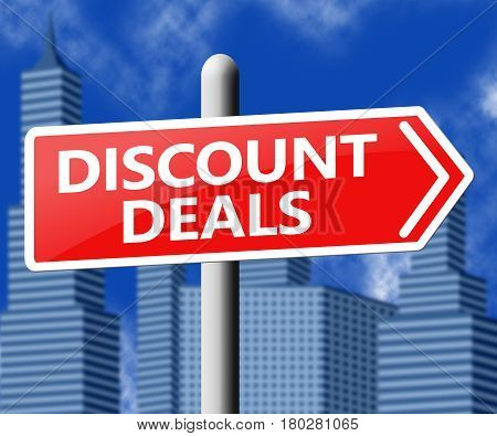 Discount Deals Represents Bargains Discounts 3D Illustration