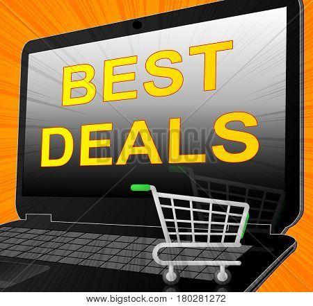 Best Deals Represents Promotional Closeout 3D Illustration