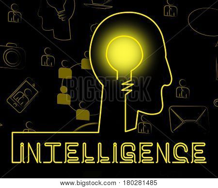 Intelligence Brain Representing Intellectual Capacity And Acumen