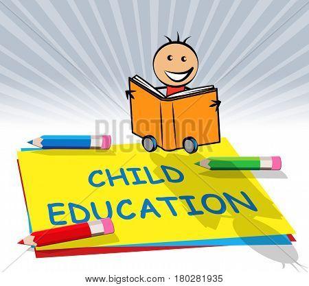 Child Education Displays Kids School 3D Illustration