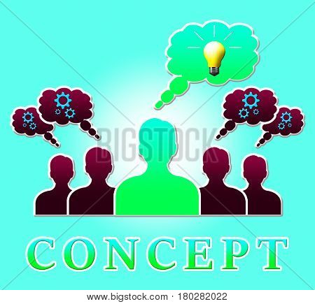 Build Concept Means Ideas Theory 3D Illustration