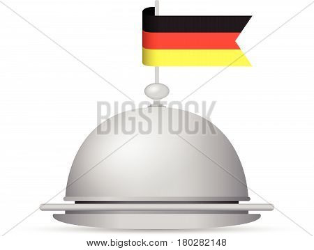 black red and yellow German flag dinner platter