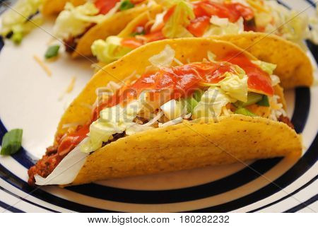 Tasty Beef Tacos Served on a Plate