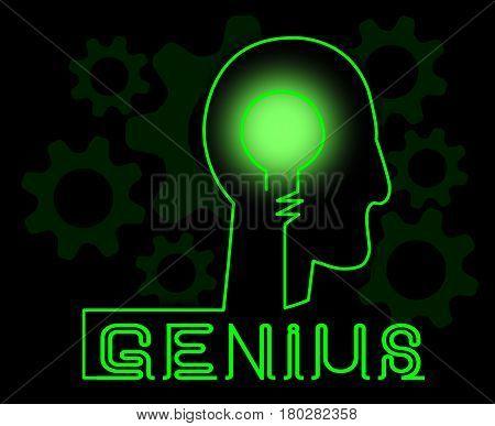 Genius Brain Meaning Specialist Solve And Guru