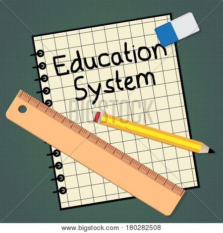 Education System Representing Schooling Organization 3D Illustration